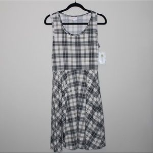LulaRoe Black And White Plaid Dress